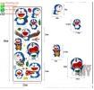 PVC wall sticker แบบสูญญากาศ Doraemon (กว้างFree.xสูงFree.)